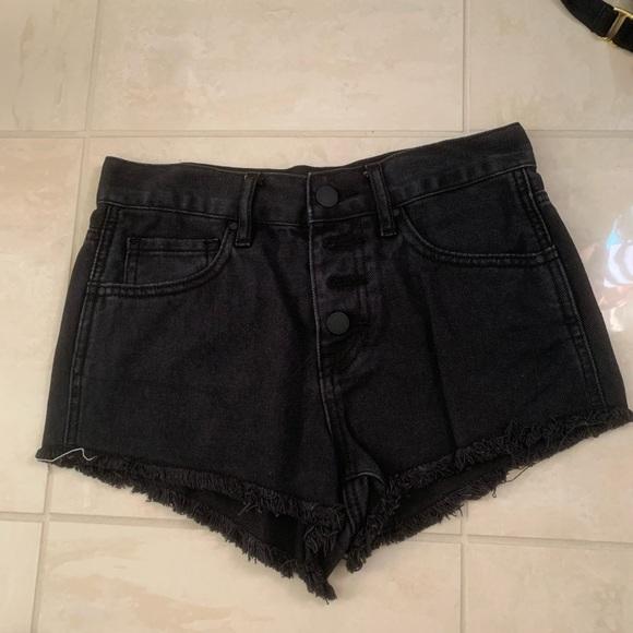 Bullhead Pants - Black Demin Shorts